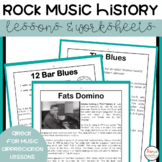 Rock Music History Lesson and Worksheets