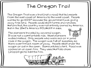 Pioneers on the American Frontier - Oregon Trail