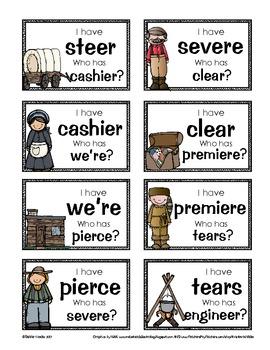 Pioneers on the Frontier: Word Work for /ear/ spelled ear, eer, ier, ere