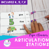 Pipe Cleaner Articulation Station - K, G, F, V