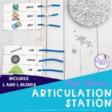 Pipe Cleaner Articulation Station - L and L-blends