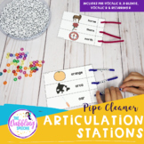 Pipe Cleaner Articulation Station - Pre-vocalic R, R-blend