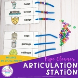 Pipe Cleaner Articulation Station - SH, CH, J, TH