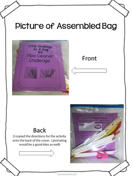 Pipe Cleaner Challenge:  STEM Challenge in a Bag