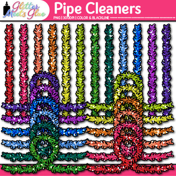 Pipe Cleaner Clip Art | STEM, STEAM, and Craft Supply Graphics for Resources