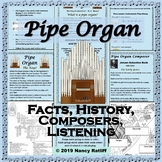 Pipe Organ - Music Listening Activity Sheet and Crossword,