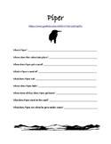 Piper Disney Pixar Short Companion Worksheet