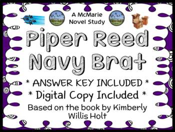 Piper Reed Navy Brat (Kimberly Willis Holt) Novel Study / Reading Comprehension