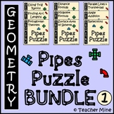 Pipes Puzzle Activity BUNDLE 1 - Geometry