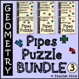 Pipes Puzzle Activity BUNDLE 3 - Geometry