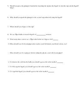 Pipette Quiz