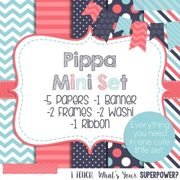 Digital Paper and Frame Mini Set Pippa