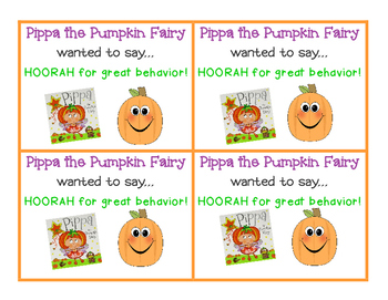 Pippa the Pumpkin Fairy Note