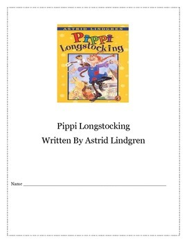 Pippi Longstocking Comprehension Question Packet