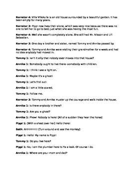Pippi Longstocking Play Script for the Classroom