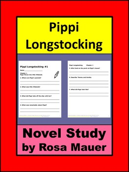 Pippi Longstocking Book Unit