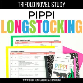 Pippi Longstocking Foldable Novel Study Unit