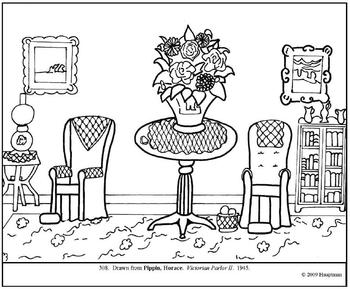 Pippin.  Victorian Parlor II.  Coloring page and lesson plan ideas