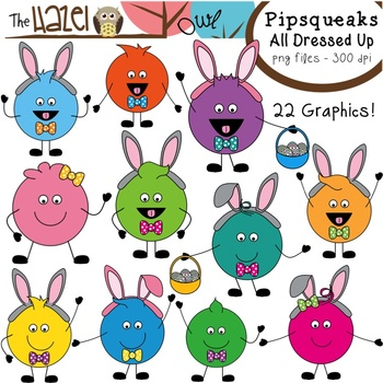 Pipsqueaks All Dressed Up for Easter Clip Art: Graphics for Teachers