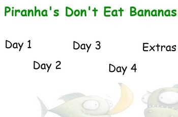 Piranhas Don't Eat Bananas Guided Reading Weekly Plan - Fo