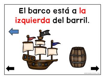 Pirata preposiciones - No Print - Prepositions in Spanish