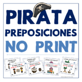 Pirata preposiciones - No Print - Prepositions in Spanish