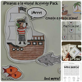 Piratas a la vista Pirates Activity Pack and Minibook Spanish Printable Resource