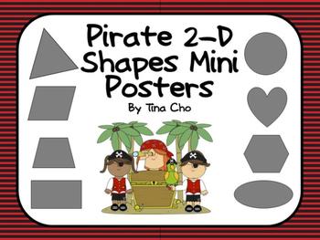 Pirate 2-D Mini Shape Posters