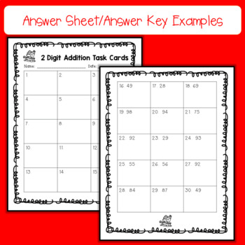 Pirate 2 Digit, No Regrouping Addition Task Cards