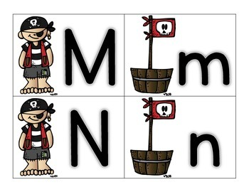 Pirate ABC Letter Matching Cards- Melonheadz Style