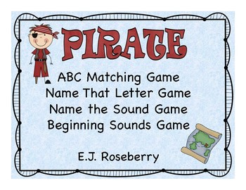 Pirate ABC Matching Game