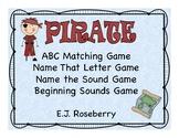 Pirate ABC Matching Game