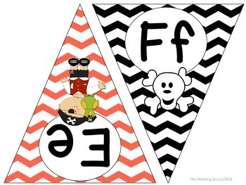 Pirate ABC Word Wall Pennant Banner
