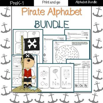 Pirate ABC-alphabet bundle!