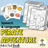 Pirate Activities - BUNDLE - Low Prep Speech Therapy Activities