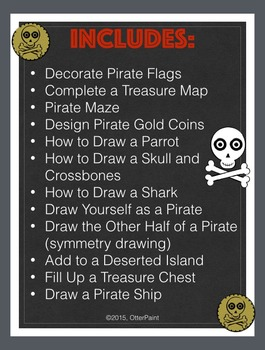 Pirate Activity Printables Set of 12.