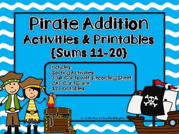 Pirate Addition Activities & Printables {Sums 11-20}