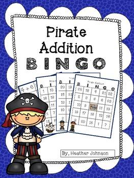 Pirate Addition BINGO