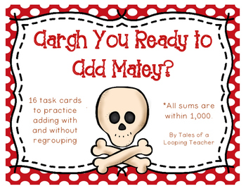 Pirate Addition & Subtraction Cards