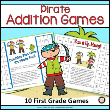 Pirate Addition Games for First Grade