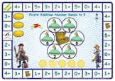 Pirate Addition Number Facts to 5