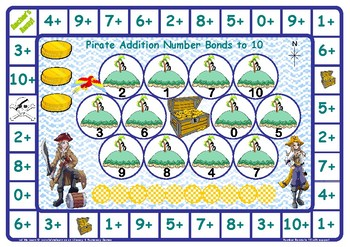Pirate Addition Number Facts to 10