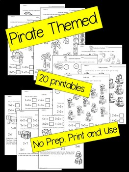 Pirate Addition Printables - Adding 0-10