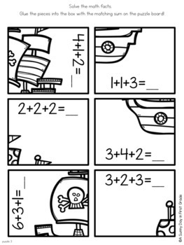 Pirate Addition Puzzles