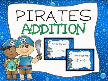 Pirate Addition Task Cards