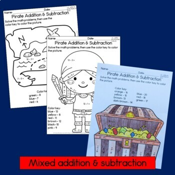 Pirate Addition and Subtraction within 20