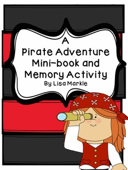 Pirate Adventure Emergent Reader and Memory Assessment Activity NO PREP