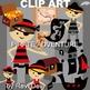 Pirate Adventure clip art 13011 (teacher resource) ahoy