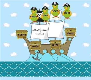 Homophones:  Long e Pirate Adventures SMARTboard lesson