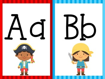 Pirate Alphabet Cards